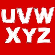 Buchstaben U, V, W, X, Y, Z