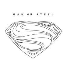 SUPERMAN online Ausmalbild