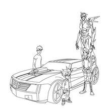 Autobots ausdrucken und ausmalen
