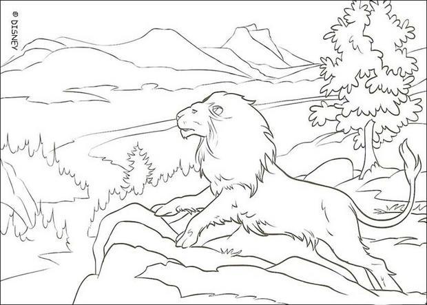der löwe aslan zum ausmalen  dehellokids