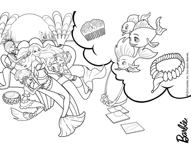 coloring pages barbie merliah - photo#25