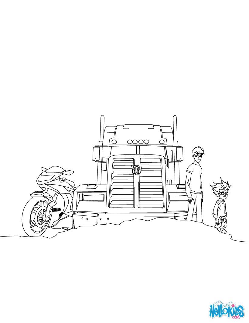 Optimus prime zum gratis anmalen zum ausmalen - de.hellokids.com