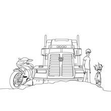 Optimus Prime zum gratis Anmalen