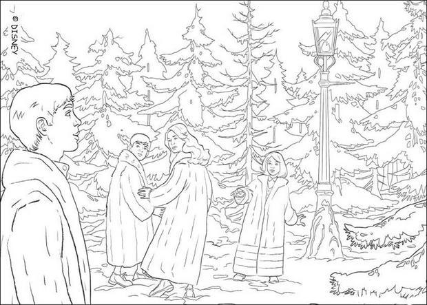Peter, lucy, susan und edmund im zauberwald zum ausmalen - de ...