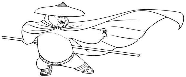 Po mit maske zum ausmalen zum ausmalen - Coloriage a imprimer kung fu panda ...