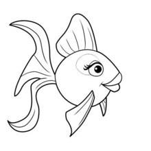 BUNTER FISCH zum Anmalen