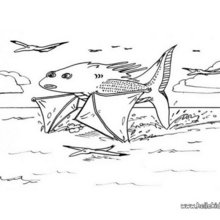 Großes Fischmonster zum Ausmalen
