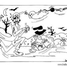 Halloween Süßes oder Saures zum Ausmalen
