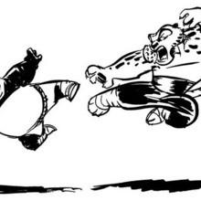 Kung Fu Panda duelliert mit Tigress