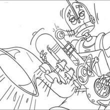 Rodney spielt Saxophon
