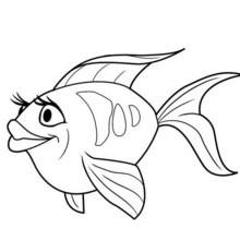 SÜßER FISCH zum Ausmalen