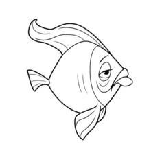 TRAURIGER FISCH zum Ausmalen