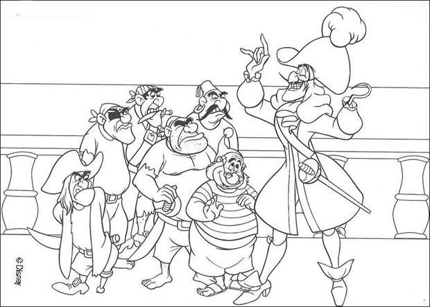 Captain hook und die piraten zum ausmalen - Peter pan colorare pagina di colorazione ...