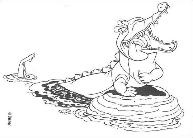Krokodil zum ausmalen zum ausmalen - Peter pan colorare pagina di colorazione ...
