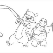 Verne die Schildkröte und Richie der Waschbär