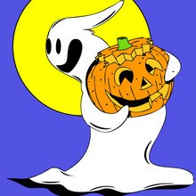 Halloween, GEIST zum Ausmalen