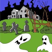 Halloween, SPUKSCHLOSS zum Ausmalen