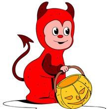 Halloween, SÜSSES oder SAURES zum Ausmalen