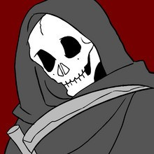 Skelett, HALLOWEEN TOD zum Ausmalen