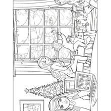 BARBIES Weihnachtsgeschichte zum Anmalen