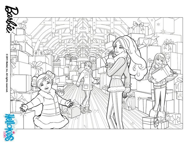 Coloring Pages Of Barbie And Her Friends : Barbie coloring book pages of and