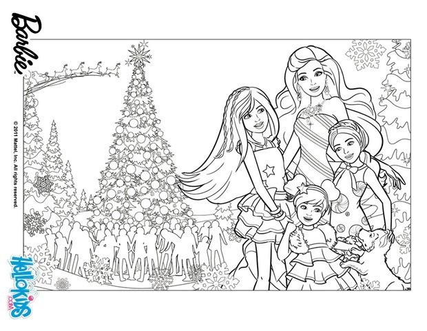 Ausmalbilder Weihnachten Gratis.Barbies Weihnachten Gratis Anmalen Zum Ausmalen De Hellokids Com