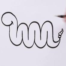 Eine Schlange in M-Form zeichnen