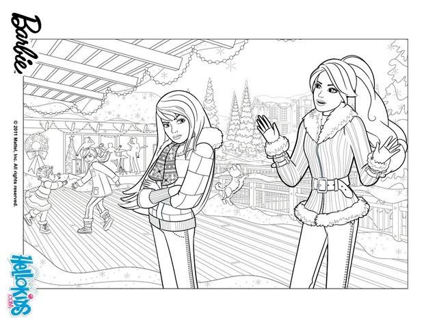 Skipper Barbie Stacie Und Chelsea Malbogen Zum Ausmalen De