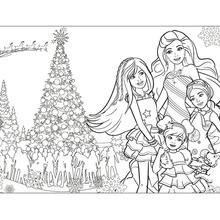 Barbies Weihnachten Gratis Anmalen Zum Ausmalen De Hellokids Com