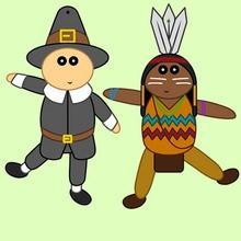 Thanksgiving Papierfiguren