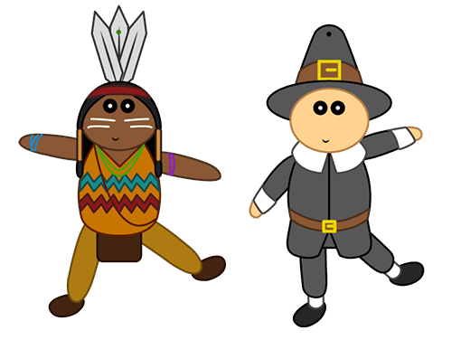 Thanksgiving Paper Puppets