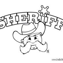 Sheriff zum Ausmalen
