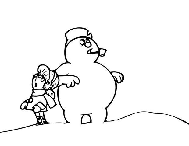 Frosty der schneemann und karen zum ausmalen zum ausmalen - de ...
