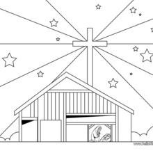 Bethlehem Weihnachtsstern zum Ausmalen