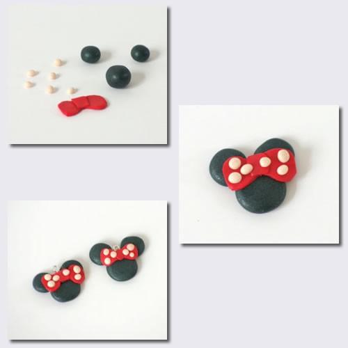 Idée cadeau de Noël : fabrique des boucles d'oreilles Minnie