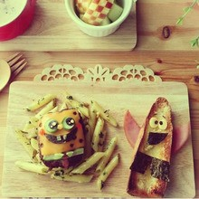 Hamburger SpongeBob Schwammkopf mit Pommes Frites