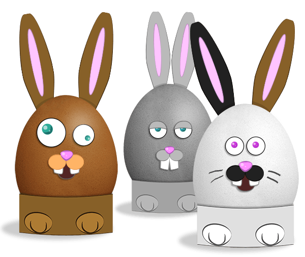 Les oeufs de lapins