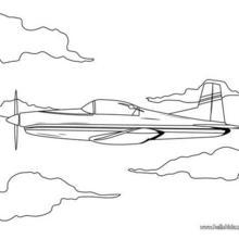 Flugzeug zum Ausmalen