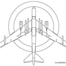 Kampfflieger zum Ausmalen