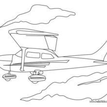 Kleines Flugzeug zum Ausmalen