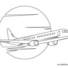 Passagierflugzeug zum Ausmalen