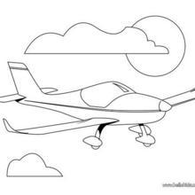 Privatflieger zum Ausmalen
