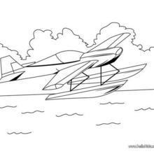 Wasserflugzeug zum Ausmalen