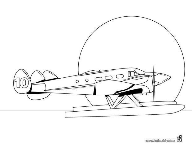 Wasserflugzeug Zum Ausmalen Zum Ausmalen De Hellokids Com