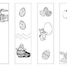 4 signets Pâques à colorier