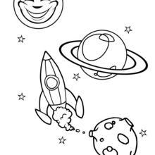 Raumschiff zum Ausmalen