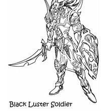 Schwarz glänzender Soldat 3 zum Ausmalen