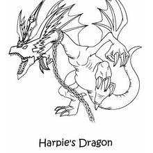 Spieldrache der Harpyien zum Ausmalen