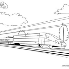 Zug Und Bahnhof Zum Ausmalen Zum Ausmalen De Hellokids Com