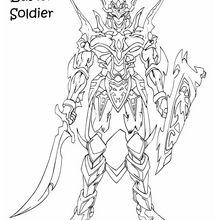 Schwarz glänzender Soldat 1 zum Ausmalen